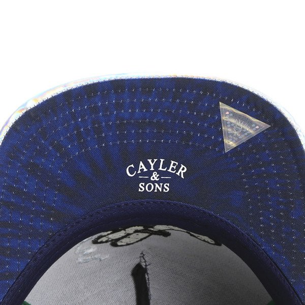 Cayler & Sons Green Label snapback Baked Cap navy / navy tie dye / hologrphic (GL-CAY-SS16-16)