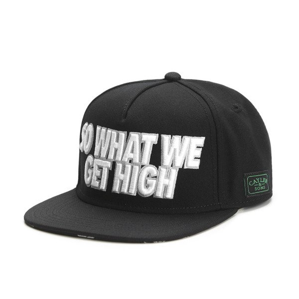 Cayler & Sons Green Label snapback We Get High Cap black / grey / silver (GL-CAY-SS16-19)