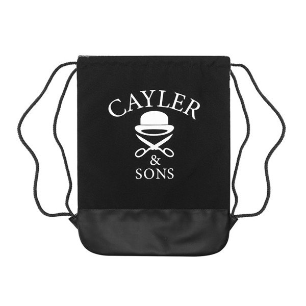 Cayler & Sons White Label BKNY Gymbag black / white (WL-CAY-SS16-GB-01)