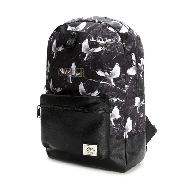 Cayler & Sons White Label Doved Out Uptown Backpack black / grey / white (WL-CAY-SS16-BP-02)