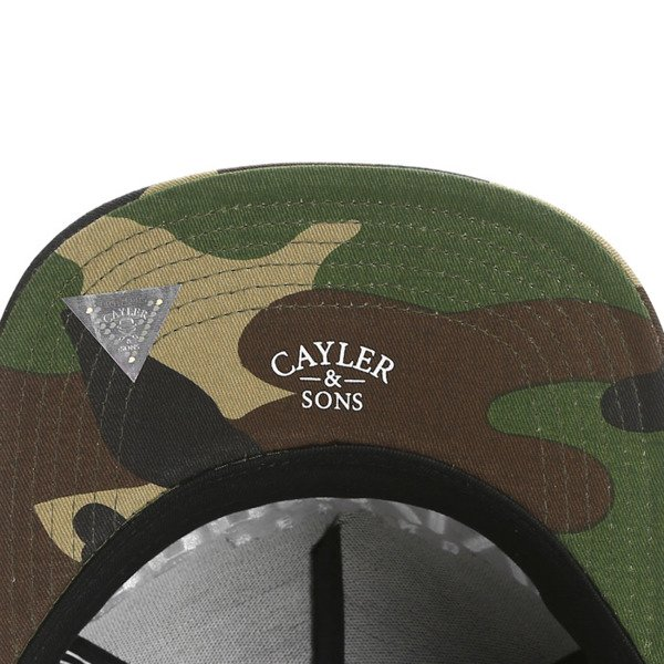 Cayler & Sons White Label snapback Brooklyn Soldier Cap black / woodland / white (WL-CAY-SS16-04)