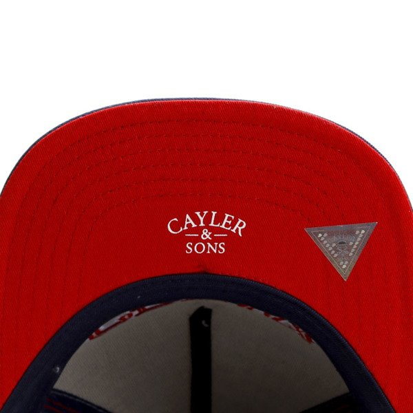 Cayler & Sons White Label snapback Get It Cap grey / navy / red WL-CAY-SU16-06