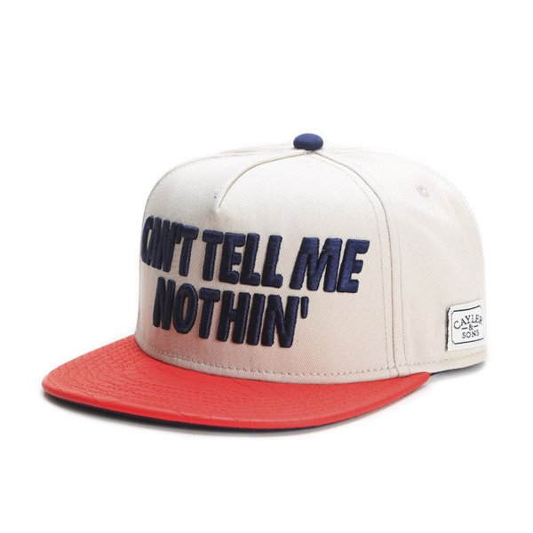 Cayler & Sons White Label snapback Tell Me Nothin' Cap sand / red / navy (WL-CAY-SS16-35)