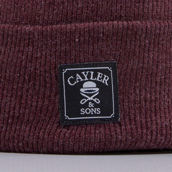 Cayler & Sons beanie Oldschool maroon heather CAY-HD14-BN-06-02