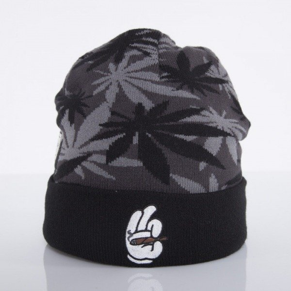 Cayler & Sons beanie #faded black weed camo / black / white CAY-AW14-BN-28-02