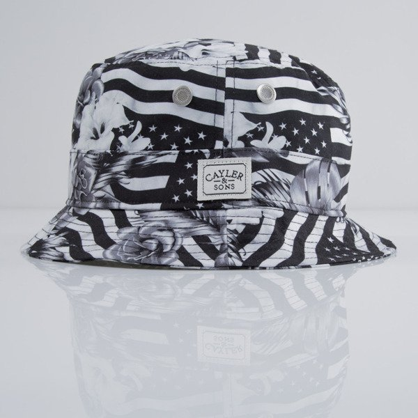 Cayler & Sons bucket hat Flagged black / white (CAY-SU15-11)