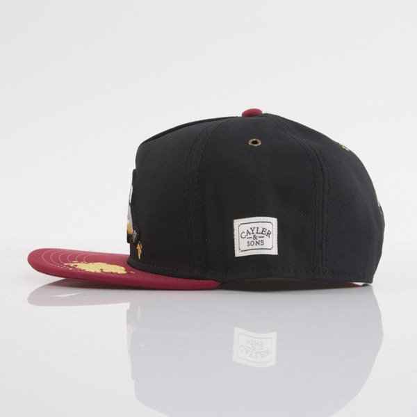 Cayler & Sons cap snapback 40 OZ black / red / yellow (WL-CAY-AW15-17-OS)