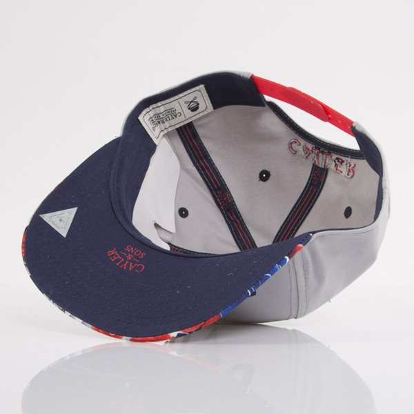 Cayler & Sons cap snapback Au Revoir grey / blue / red (WL-CAY-AW15-01-OS)