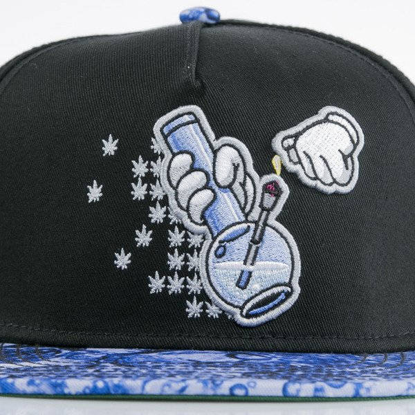 Cayler & Sons cap snapback Bubbles and Bongs black / blue bubbles(GL-CAY-AW15-01-OS)