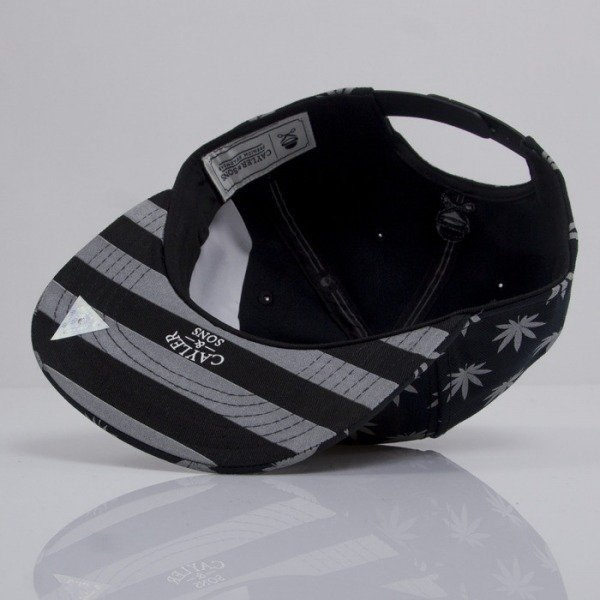 Cayler & Sons cap snapback Budz n Stripes Reflect 2-Tone black / reflective CAY-HD14- 08