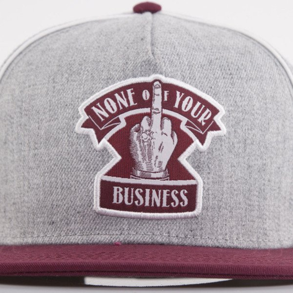 Cayler & Sons cap snapback Business grey / maroon / white (CL-CAY-AW15-02-OS)