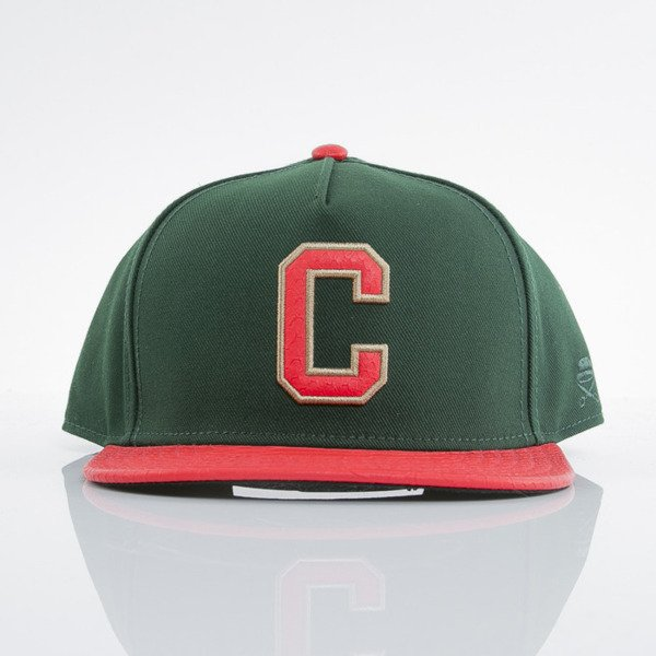 Cayler & Sons cap snapback Cee Luigi forest green / red snake (GLD-CAY-AW15-09-OS)