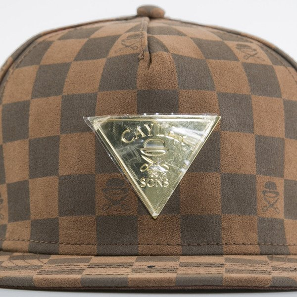 Cayler & Sons cap snapback Checkers brown / gold (GLD-CAY-AW15-01-OS)