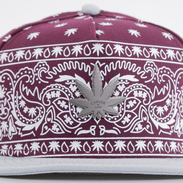 Cayler & Sons cap snapback Hazely maroon / white / gold (GL-CAY-AW15-24-04-OS)