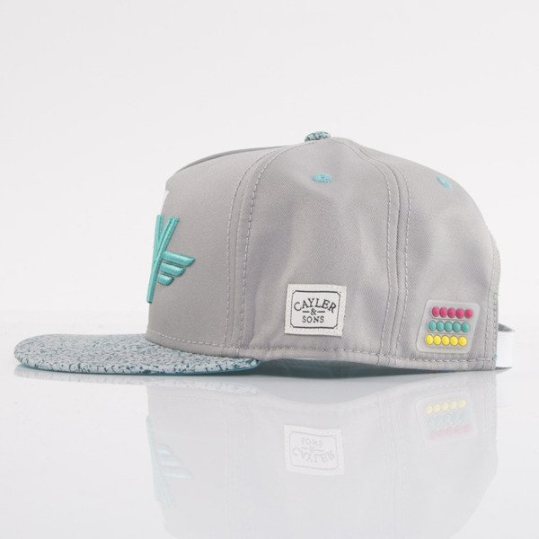 Cayler & Sons cap snapback Marty grey / turquoise / white (WL-CAY-AW15-24-OS)