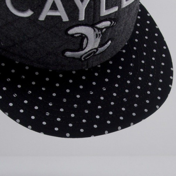 Cayler & Sons cap snapback No.1 Throwback grey wool / black / white CAY-HD14-17