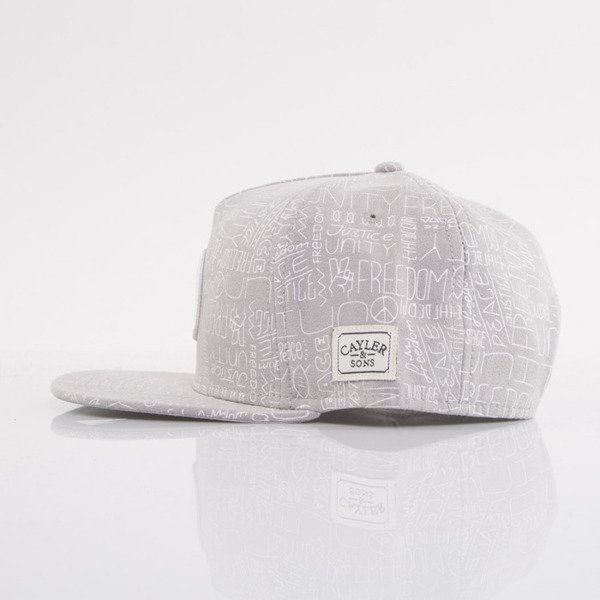 Cayler & Sons cap snapback Peace grey / white (WL-CAY-AW15-15-OS)