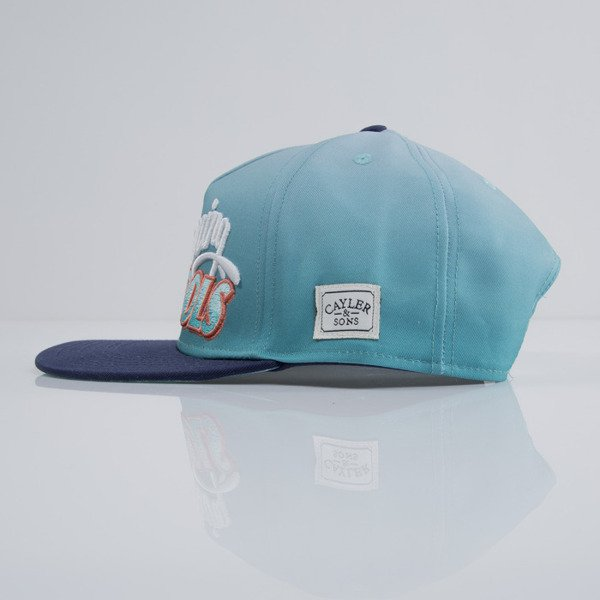 Cayler & Sons cap snapback Swimming Pools fading aqua / navy / white  (CAY-SU15-31-OS)