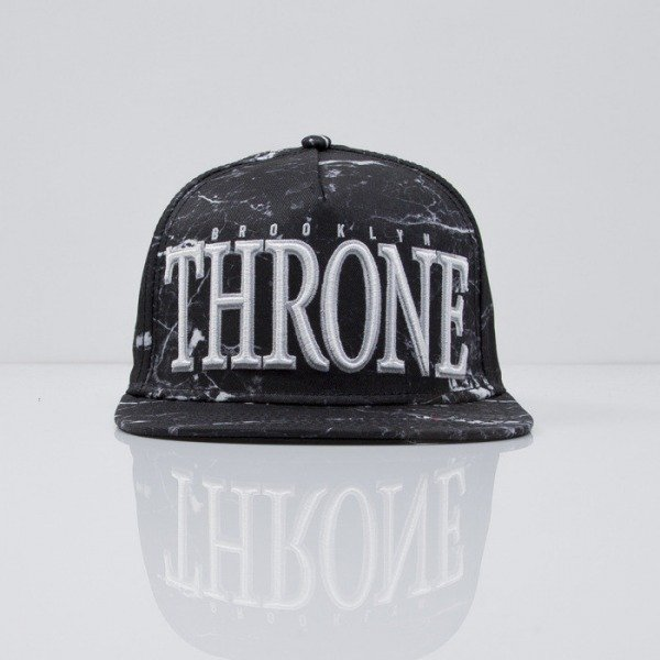 Cayler & Sons cap snapback Throne black marble/white/silver