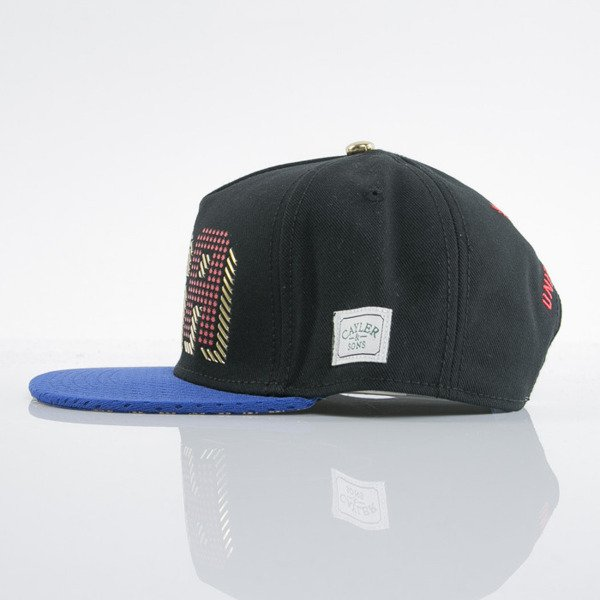 Cayler & Sons cap snapback United We Stand black / royal blue / gold (GL-CAY-AW15-16-OS)