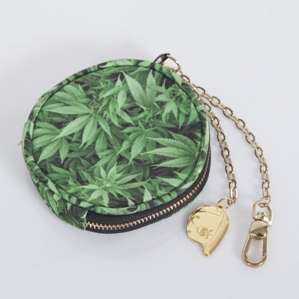 Cayler & Sons coin pouch Kush green leaves / gold CAY-AW14-CP-02