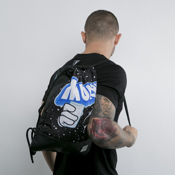 Cayler & Sons gym bag Dip Em black / blue / white spreckled (GL-CAY-AW15-GB-04-OS)