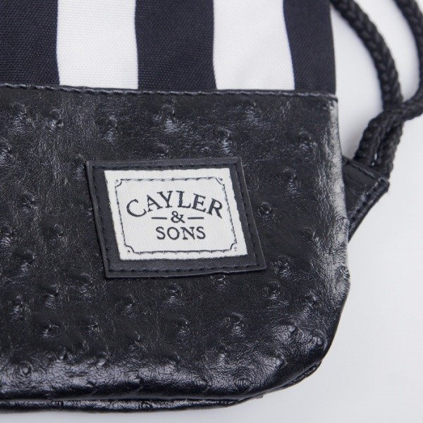 Cayler & Sons gym bag Flagged black/white HD14-GB-03