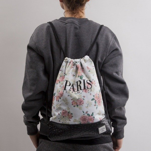 Cayler & Sons gym bag Paris Cite floral white/black/ostrich HD14-GB-05