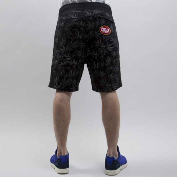 Cayler & Sons shorts Blunted Sweatshorts black / white (CAY-SS15-AP-57-01)