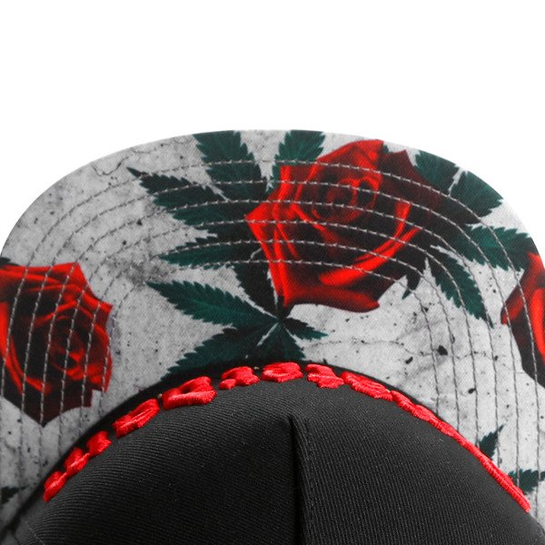 Cayler & Sons snapback Amsterdam Cap black / concrete roses / red GL-CAY-AW16-01