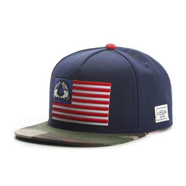 Cayler & Sons snapback BK Salute Cap navy / woodland WL-CAY-AW16-01