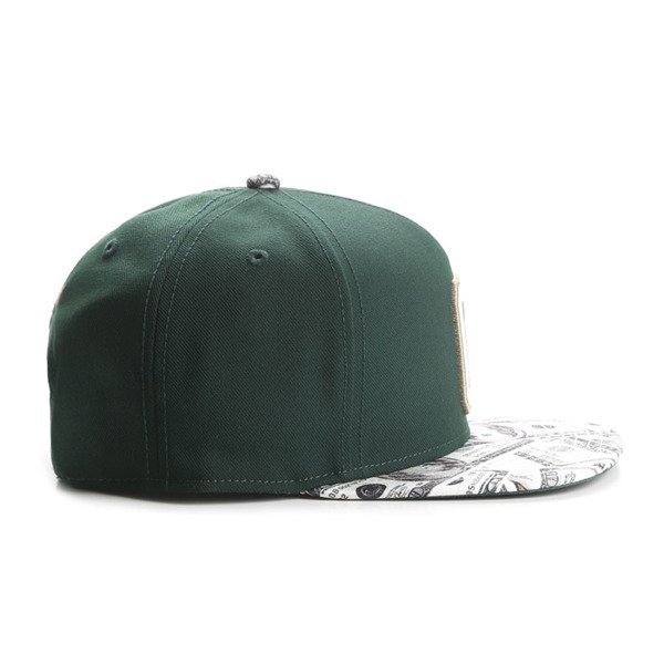 Cayler & Sons snapback Cee Benjamins Cap forest green / mc GLD-CAY-AW16-07