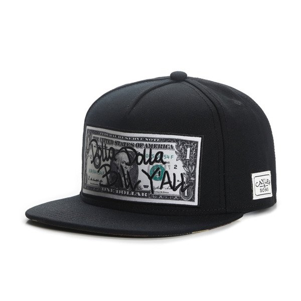Cayler & Sons snapback Dolla Dolla Cap black / yellow / woodland WL-CAY-AW16-32