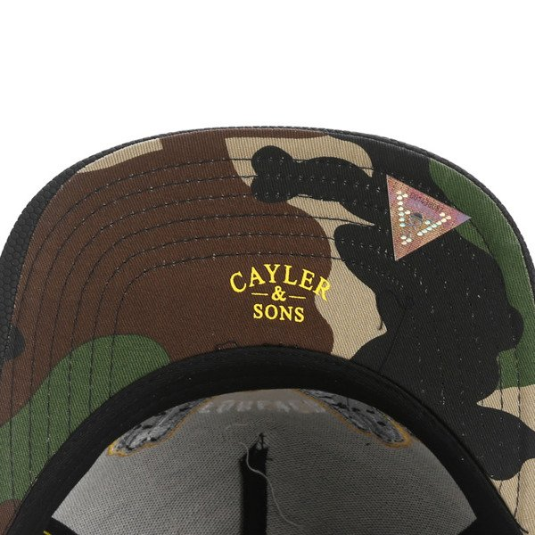 Cayler & Sons snapback Forever Cap black / yellow / woodland WL-CAY-AW16-31