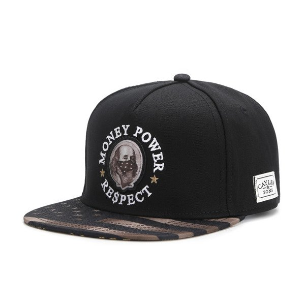 Cayler & Sons snapback Money Power Respect Cap black / gold / white WL-CAY-AW16-28
