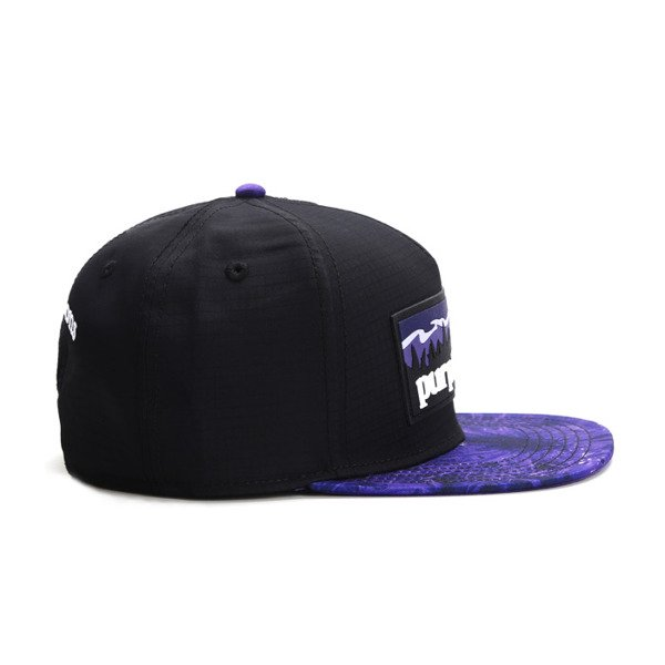 Cayler & Sons snapback Purple Hills Cap black / purple / white GL-CAY-AW16-04