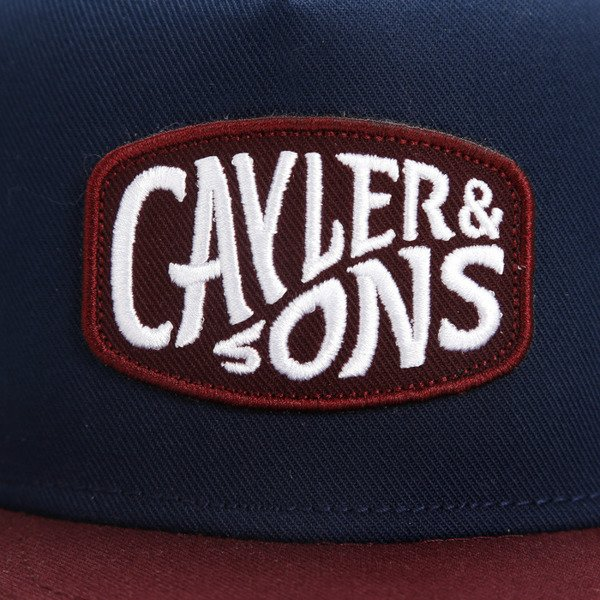 Cayler & Sons snapback Wawey Cap navy / maroon / white CL-CAY-AW16-07