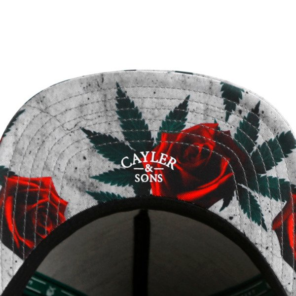 Cayler & Sons snapback czapka Amsterdam Cap black / concrete roses / red GL-CAY-AW16-01