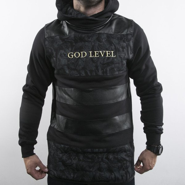 Cayler & Sons sweatshirt God Level Long Hoody black / gold BL-CAY-AW15-AP-04