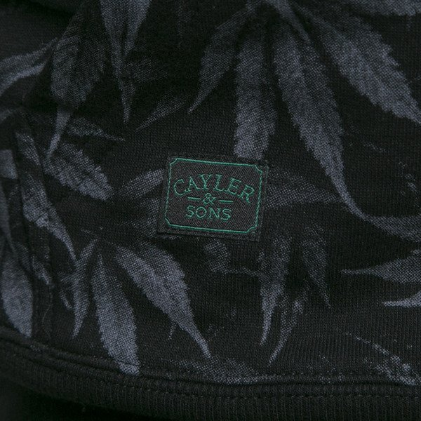 Cayler & Sons sweatshirt Legalize It Hoody black leaves / gold (GL-CAY-AW15-AP-10)