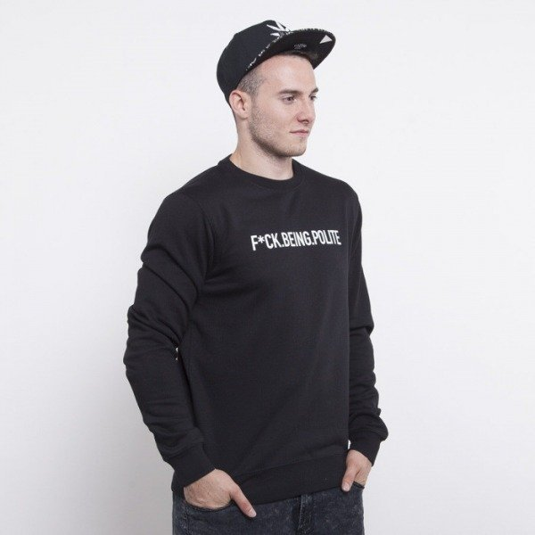 Cayler & Sons sweatshirt Never Polite crewneck black / white CAY-AW14-AP-14-01