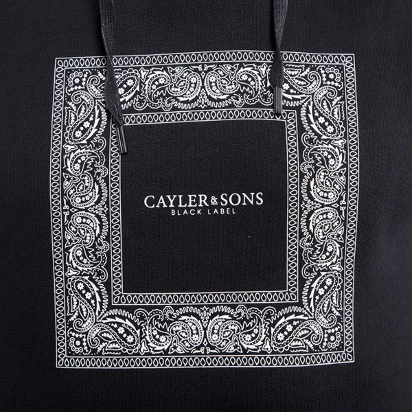 Cayler & Sons sweatshirt Paiz Hoody black / white BL-CAY-HD15-AP-03-01