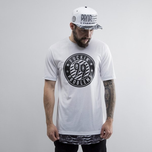 Cayler & Sons t-shirt  99 FCKN Problems Long black / white (CAY-SU15-AP-03)