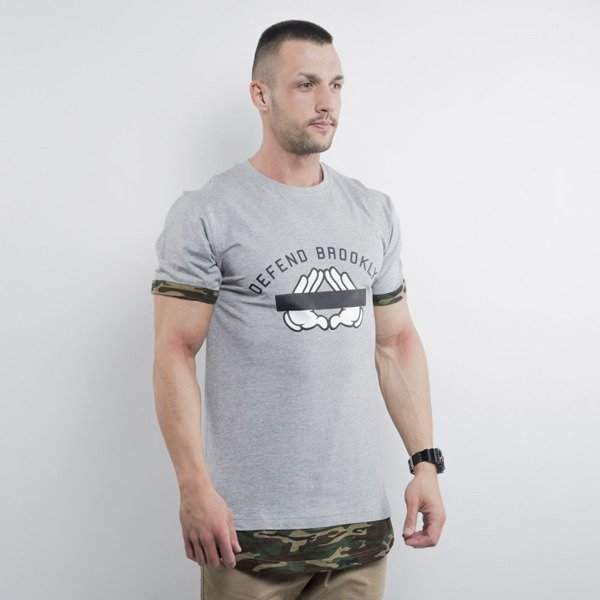Cayler & Sons t-shirt Defend Brooklyn Long heather grey / woodland WL-CAY-HD15-AP-05