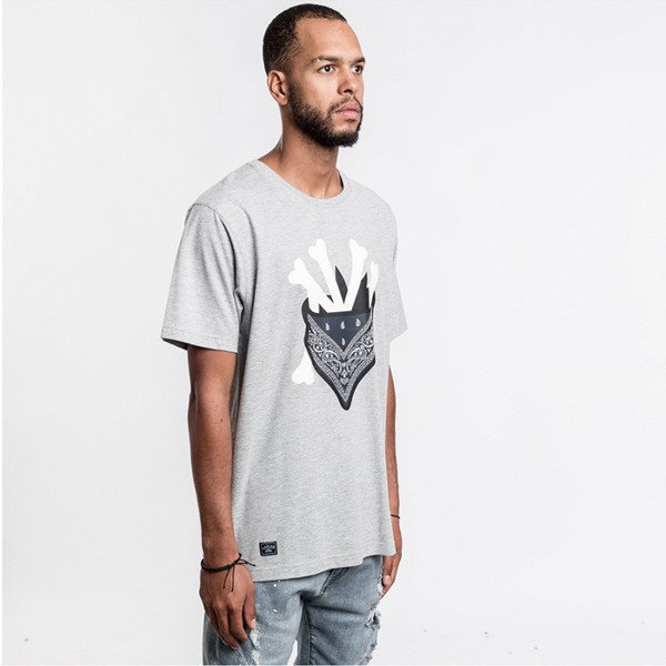 Cayler & Sons t-shirt Grime Tee grey - heather / white / navy WL-CAY-AW16-AP-19