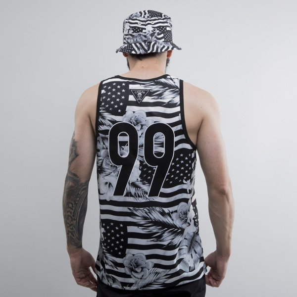 Cayler & Sons tank top Brooklyn Flowers Mesh black / white (CAY-SU15-AP-05)