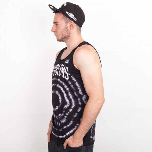 Cayler & Sons tank top Problems tie dye black / white
