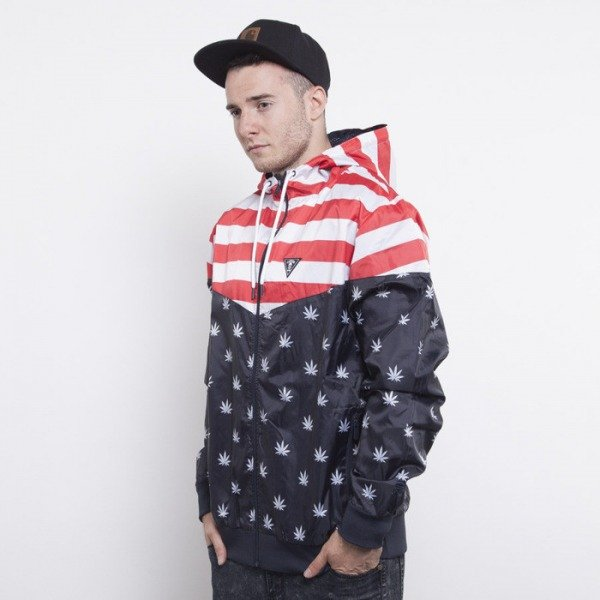 Cayler & Sons windbreaker V$A deep navy / red / white  CAY-AW14-AP-09-02