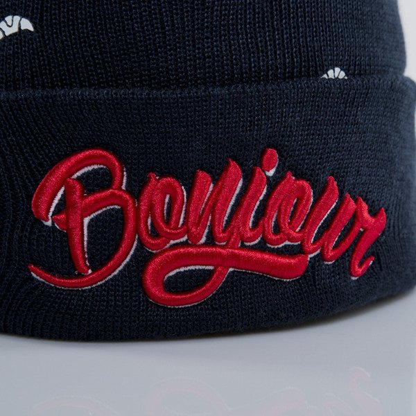 Cayler & Sons winter cap Bonjour Old School Beanie navy / red / white (WL-CAY-AW15-BN-01-OS)