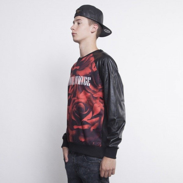 Criminal Damage sweatshirt Black Roses red / black